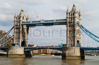 The famous Tower Bridge in London, England.