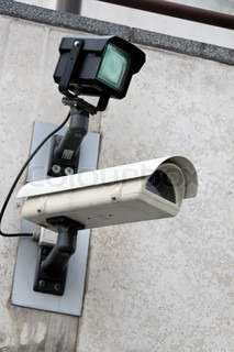 A video camera surveillance for the protection of a building