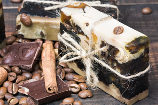 handmade soap with the aroma of coffee and chocolate