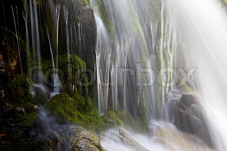 Waterfall close-up for wallpaper or backgrounds