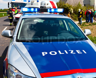 A police car of the Austrian police. Police vehicle