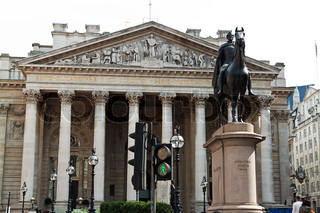 Old Stock Exchange building in London, England