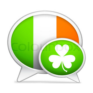 St patricks day speech bubbles with flag of ireland and for Irish mail cart plans