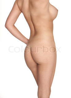 Beautiful body image of a young beautiful girl from behind