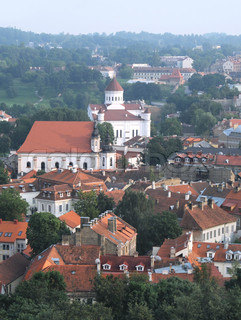 Vilnius - the capital of Lithuania, aerial view