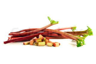 Rhubarb stalks and chops