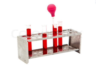 tubes of blood on a white background