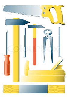 Vector images of the manual tool for civil work