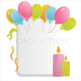 colorful birthday frame