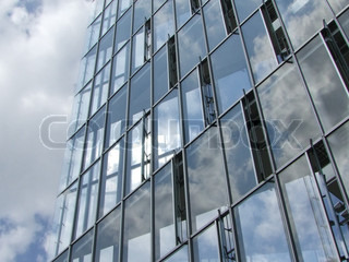 Modern architecture with glass windows