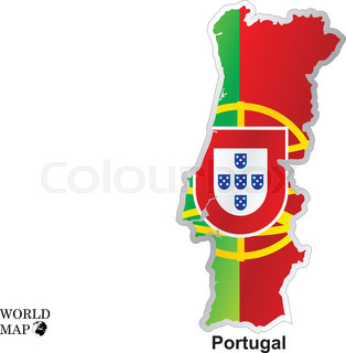 Cool USA Map With US Flag Stock Vector Colourbox - Portugal map flag