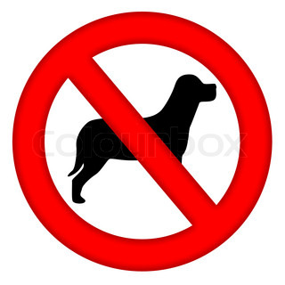 Dogs not allowed sign
