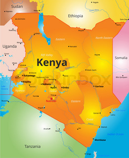 Abstract vector color map of kenya country colored by national color map of kenya country gumiabroncs Choice Image