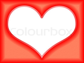 Love frame in the shape of heart