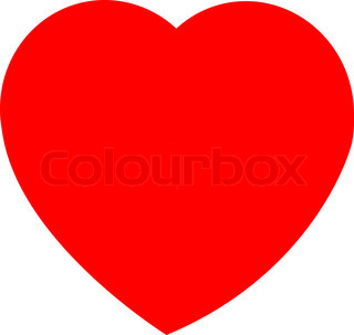 Vektor af 'hjerte, Mors dag, rødt'