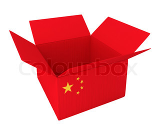 Made in China. 3d concept illustration isolated on white