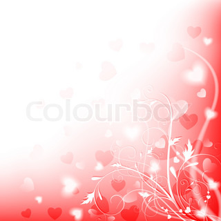 Abstract heart and floral shiny love background with copyspace, EPS10