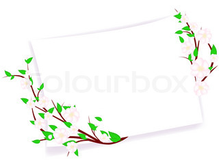 spring blossom abstract frame with copyspace for your text