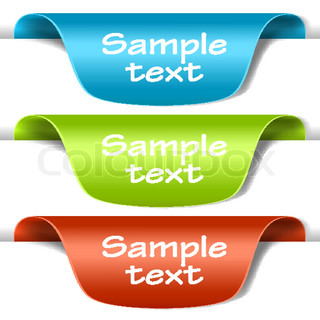 Set of multicolored tag labels. Vector eps10 illustration