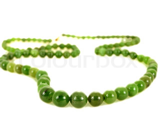 Green emerald gemstone necklace