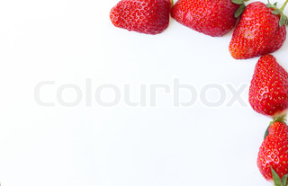 Berry of strawberry on white background