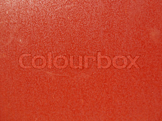Metal wall, painted in red color