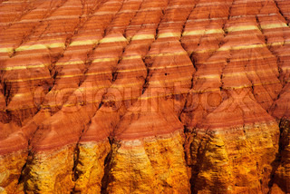 Texture of wall of the canyon