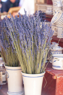 dried lavender flowers in a vase at the fair
