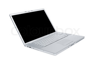 modern and new laptop on a white background