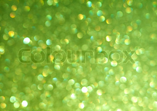 Abstract background of green holiday lights