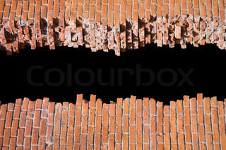 Brocken brick wall with copyspace for your text