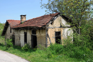 Old abandoned mill with extended premises in Bulgarian village