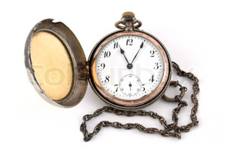 Antique gold pocket watch of the nineteenth century