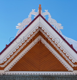 Roof of traditional wooden house
