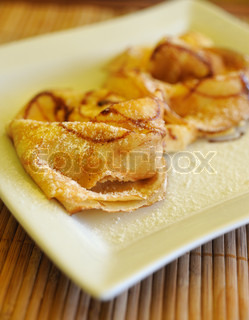Pancakes. The sweet dessert, is made of a flour, milk and eggs