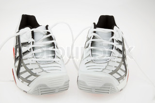 New sports shoes for running and jogging on a white background