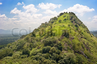 Beautiful mountain in the sunshine day, Sri Lanka