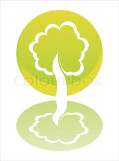 blanke grønne træ skilt