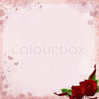 Lykønskningskort eller baggrund med roser