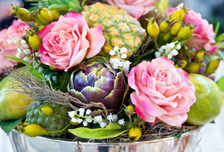 flowers and fruits. decoration