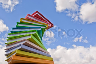 Stack of colored cover books