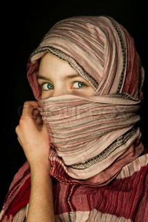 Little girl muffled in a shawl