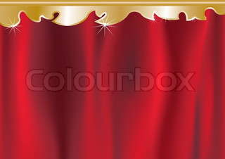 Vector of 'curtain, red, backdrop'