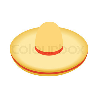 Two Colored Cartoon sombrero on a ...  fac2b16d20a