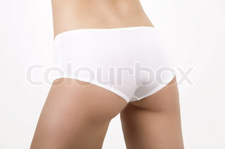 ©Jana Hernette/AltoPress/Maxppp ; Woman in underwear, close-up of buttocks