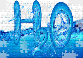 The chemical formula of water collected from puzzles