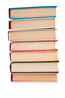 pile of the books isolated on a white background
