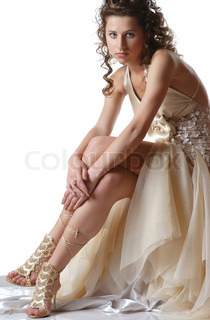 portrait of a young girl with beautiful legs