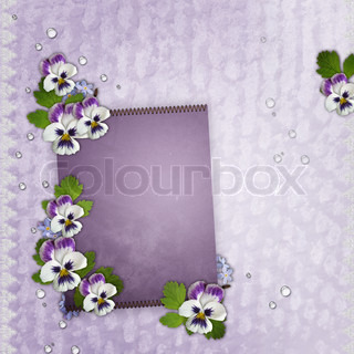 Template for  birthday or Mother's Day greetings card