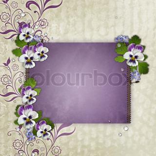 Skabelon til fødselsdag eller mors dag hilsen card